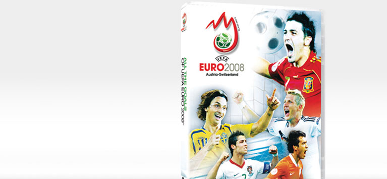 Euro2008 DVD packaging all the goals