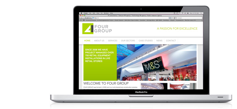 Four Group branding and website design