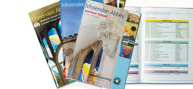 Missenden Abbey Course Brochures