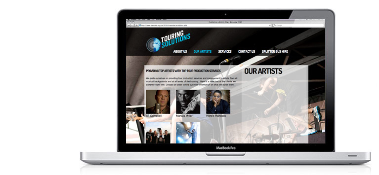 Touring Solutions Website Design